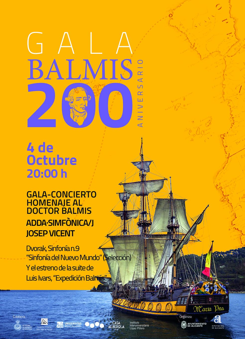 ADDA Simfònica estrena la suite Expedición Balmis en un concierto homenaje al insigne médico alicantino en MÚSICA