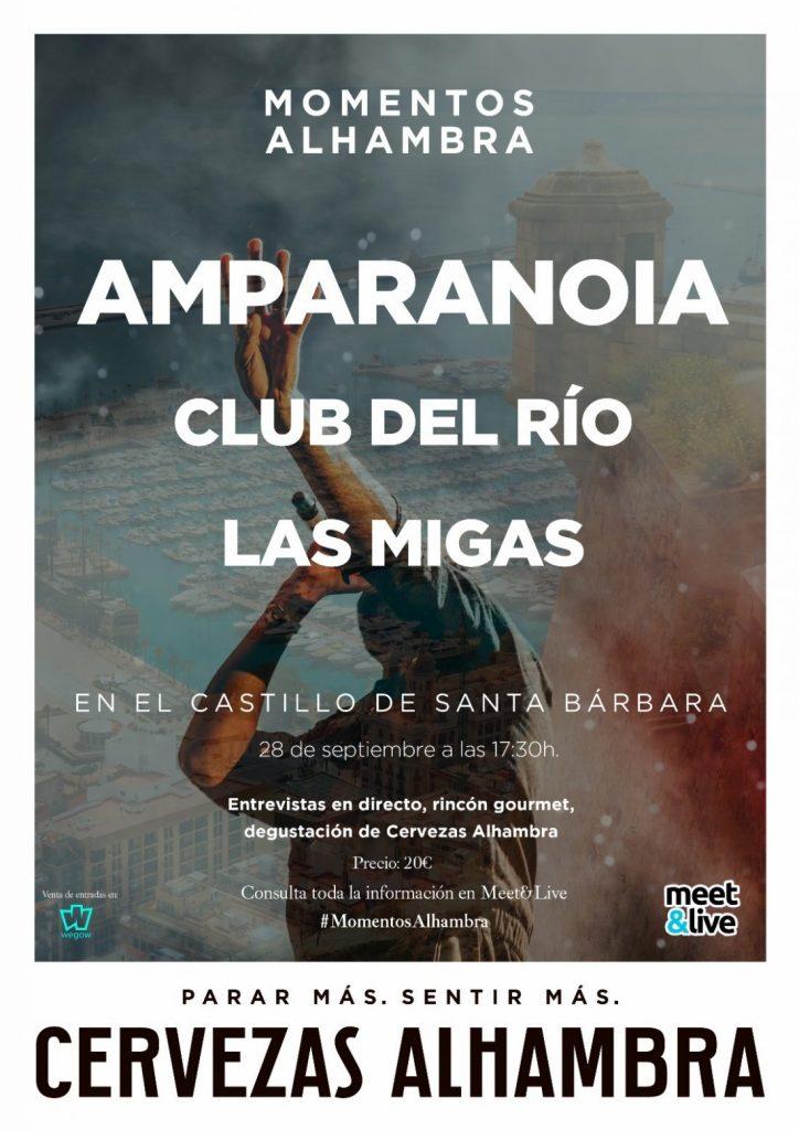 Amparanoia, Las Migas y Club del Ríoprotagonizan 'Momentos Alhambra' en el Castillo de Santa Bárbara en MÚSICA