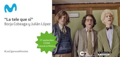 'La Tele que SÍ' con Borja Cobeaga y Julián López y concierto de Papa Topo, próximas citas de Movistar+ en CONFERENCIAS MÚSICA