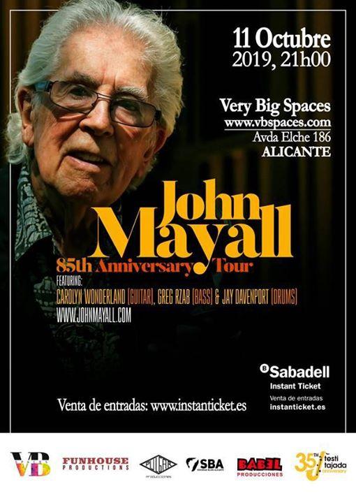 """John Mayall, """"Padrino del blues británico"""", en concierto por primera vez en Alicante en DESTACADOS MÚSICA"""