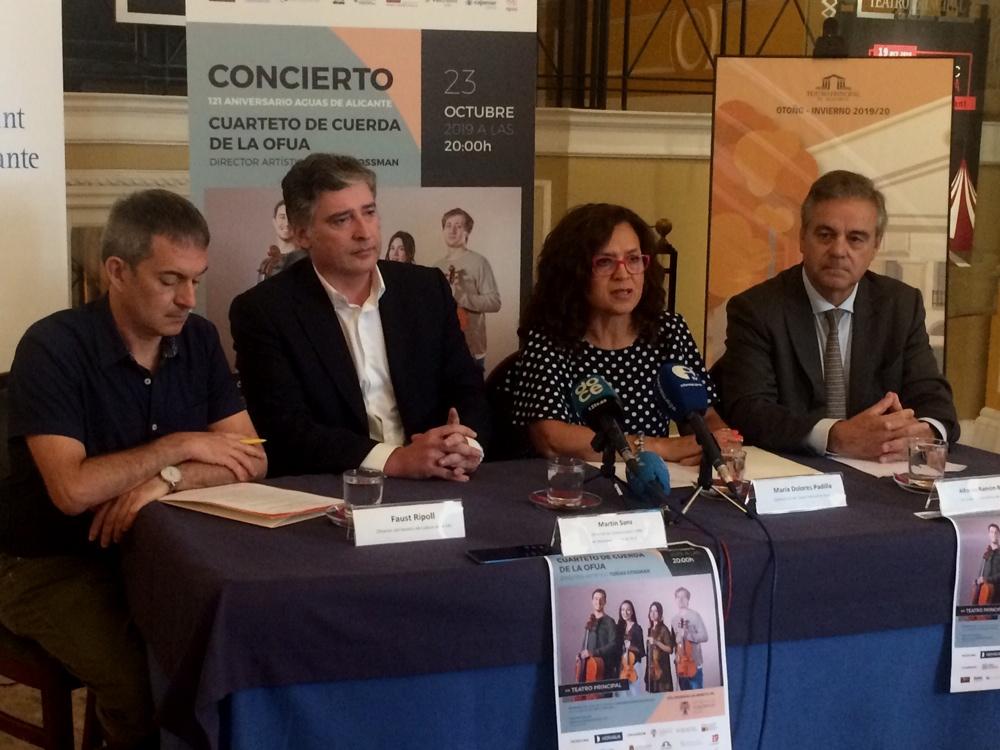 La OFUA ofrece el Concierto 121 Aniversario Aguas de Alicante en el Principal en MÚSICA