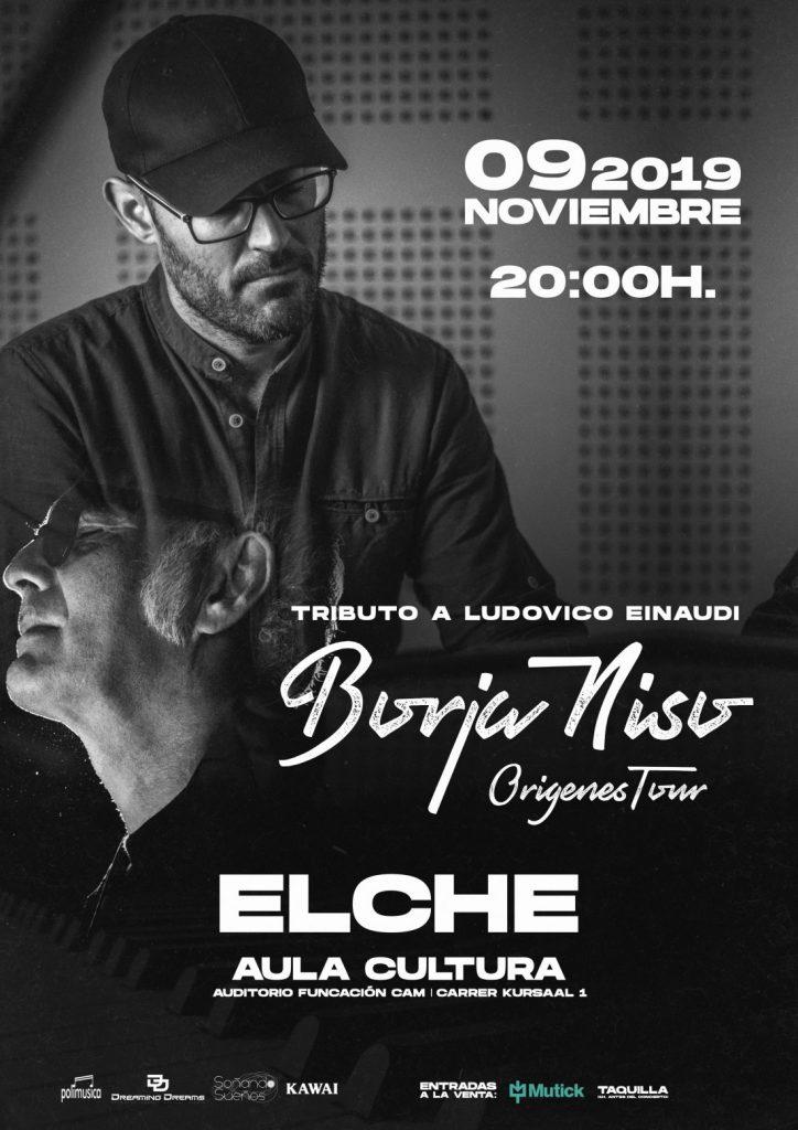 El pianista y compositor Borja Niso rinde homenaje a Ludovico Einaudi en Elche y Alicante en MÚSICA