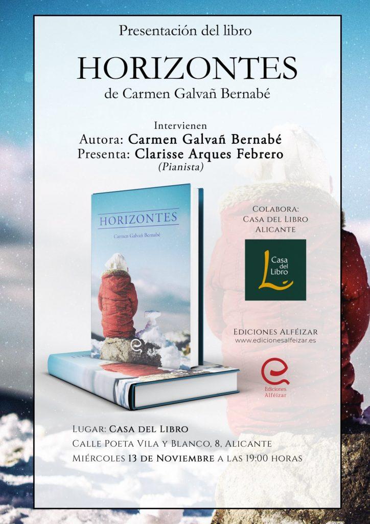 La joven alicantina Carmen Galvañ presenta su obra 'Horizontes' en la Casa del Libro en LETRAS