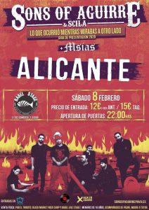 Sons of Aguirre & Scila actuará por primera vez en Alicante presentando su nuevo álbum en MÚSICA
