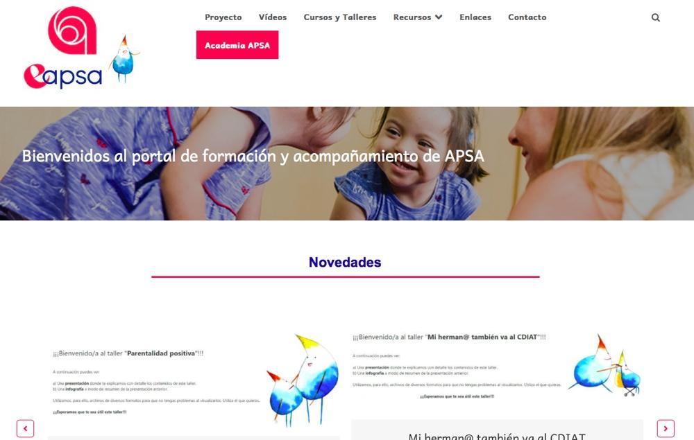La Cátedra de Inclusión Social Aguas de Alicante presenta la plataforma educativa e-apsa en INTERNET