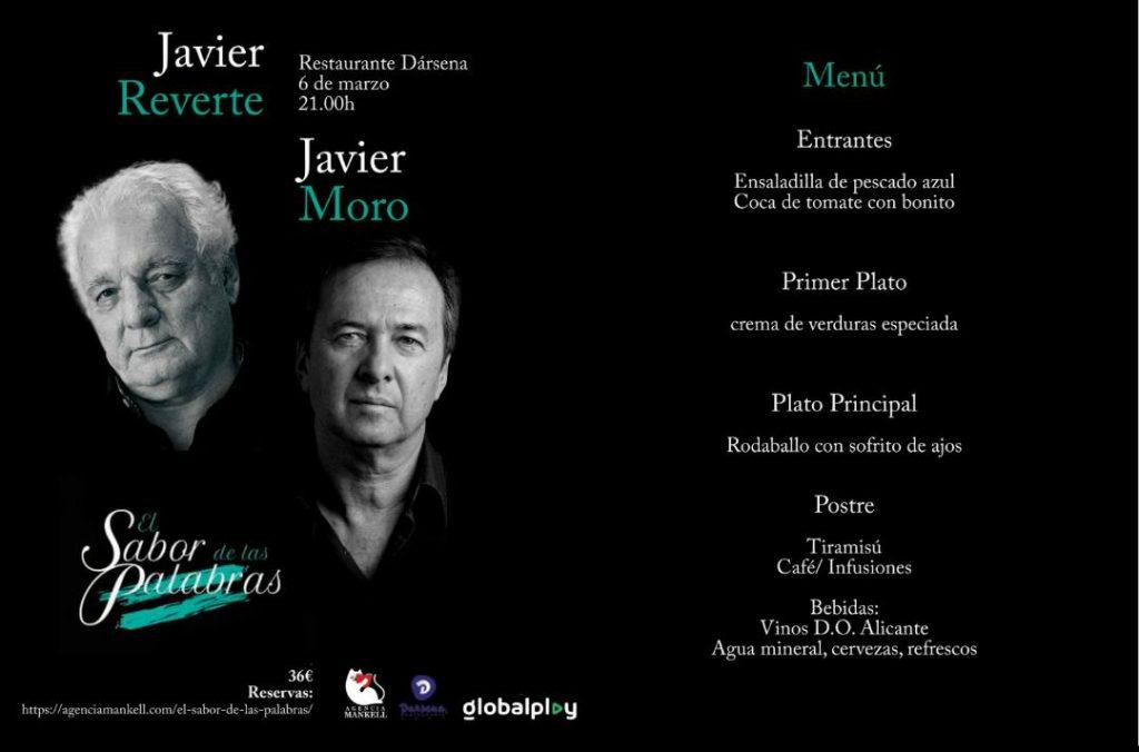 Javier Moro y Javier Reverte protagonizan la próxima cena literaria 'El Sabor de las Palabras' en LETRAS