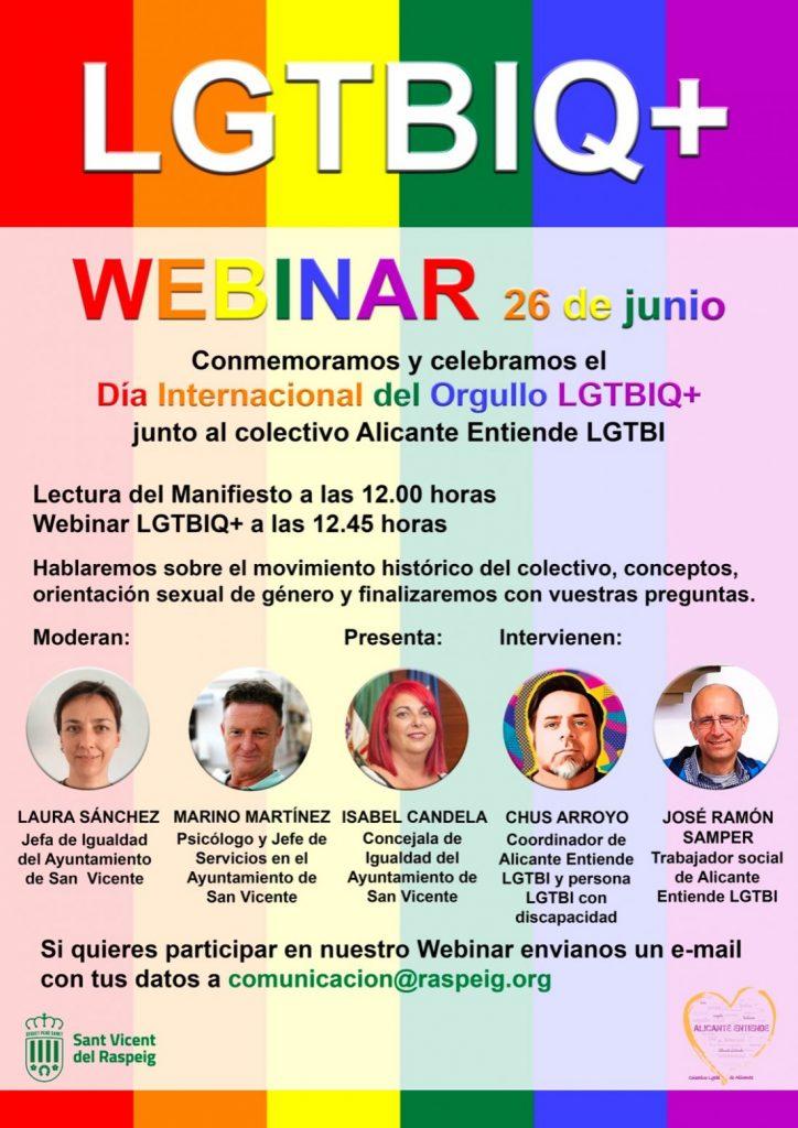 'Alicante Entiende' celebra este 28J el OrgulloLGTBI de manera virtual en INTERNET