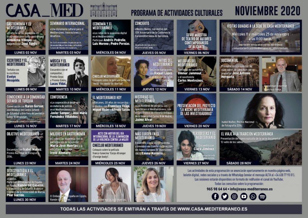 Casa Mediterráneo ofrece visitas guiadas a su sede en la programación de noviembre en CONFERENCIAS