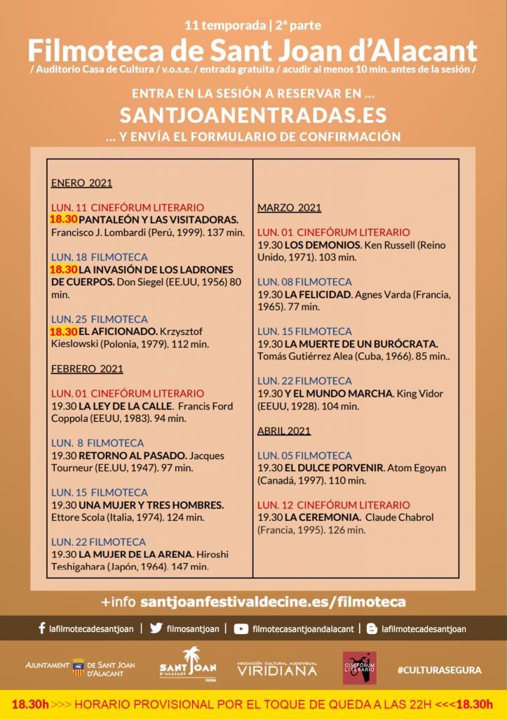 La Filmoteca de Sant Joan retoma su 11ª edición con un cinefórum sobre 'Pantaleón y las visitadoras' en CINE DESTACADOS