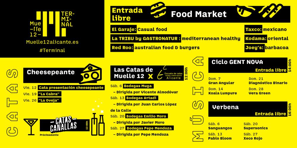 Muelle12, el primer open space de España llega a Alicante con conciertos, gastronomía, artes escénicas y mucho más en MÚSICA