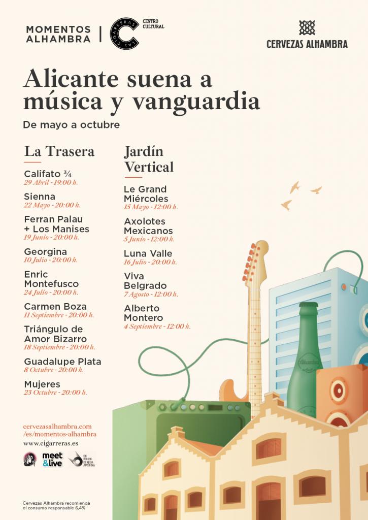 Triángulo de Amor Bizarro, Enric Montefusco y Viva Belgradoactuarán en'Momentos Alhambra Las Cigarreras' en MÚSICA