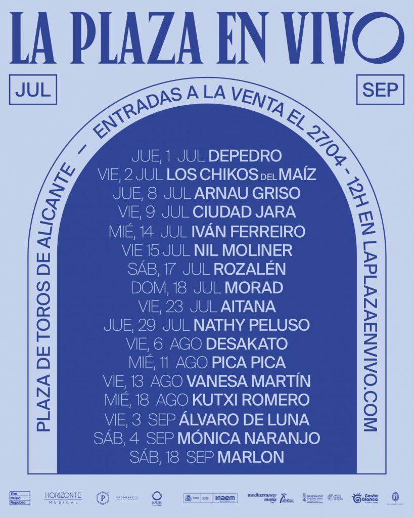 Este verano, 'La Plaza en vivo' trae música en directo ala Plaza de Toros de Alicante en MÚSICA