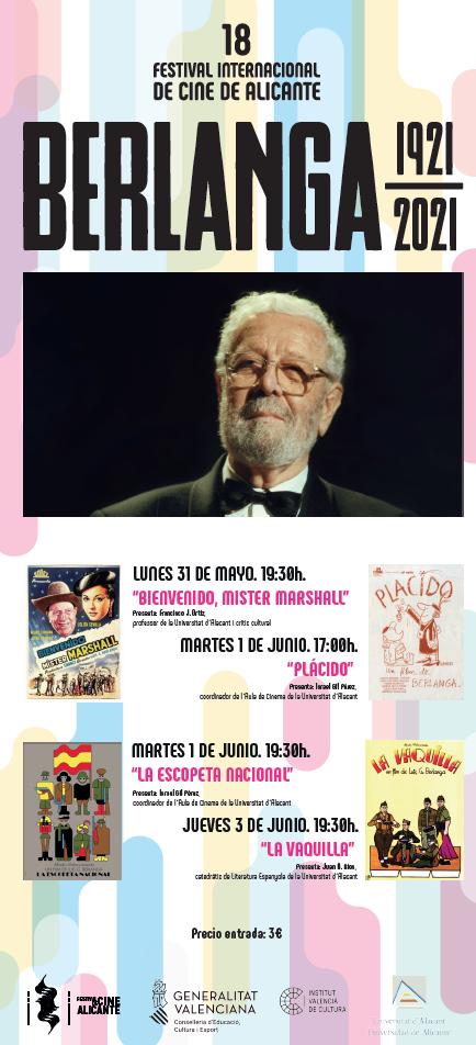 El Festival de Cine de Alicante celebra el Año Berlanga con la proyección en el Arniches de algunos de sus grandes clásicos en CINE