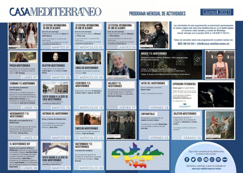 Cine, fotografía y derechos LGTBI centran la programación de junio de Casa Mediterráneo en CONFERENCIAS