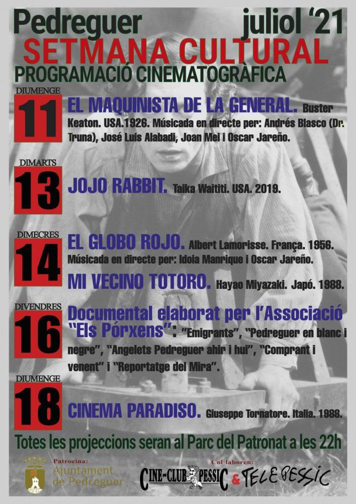 Pedreguer programa grandes obras del cine para las noches de verano en CINE