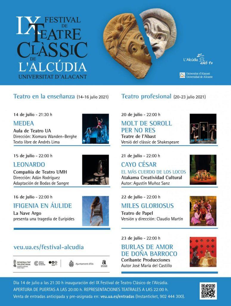 Comienza el Festival de Teatro Clásico L'Alcúdia-UA con la semana del Teatro de la Enseñanza en DESTACADOS ESCENA