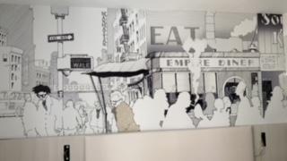 Artistas de la provincia recrean escenas icónicas del séptimo arte en el nuevo hotel DormirDCine Alicante en DESTACADOS ILUSTRACIÓN