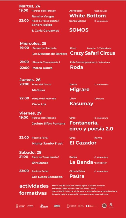 El festival de circo HOP¡¡! ofrecerá diez espectáculos en su 5ª edición en Villena en ESCENA