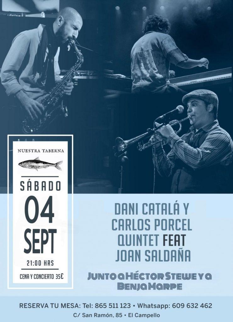 Concierto de jazz y neo soul de Dani Catalá y Carlos Porcel Quintet con Joan Saldaña en El Campello en MÚSICA