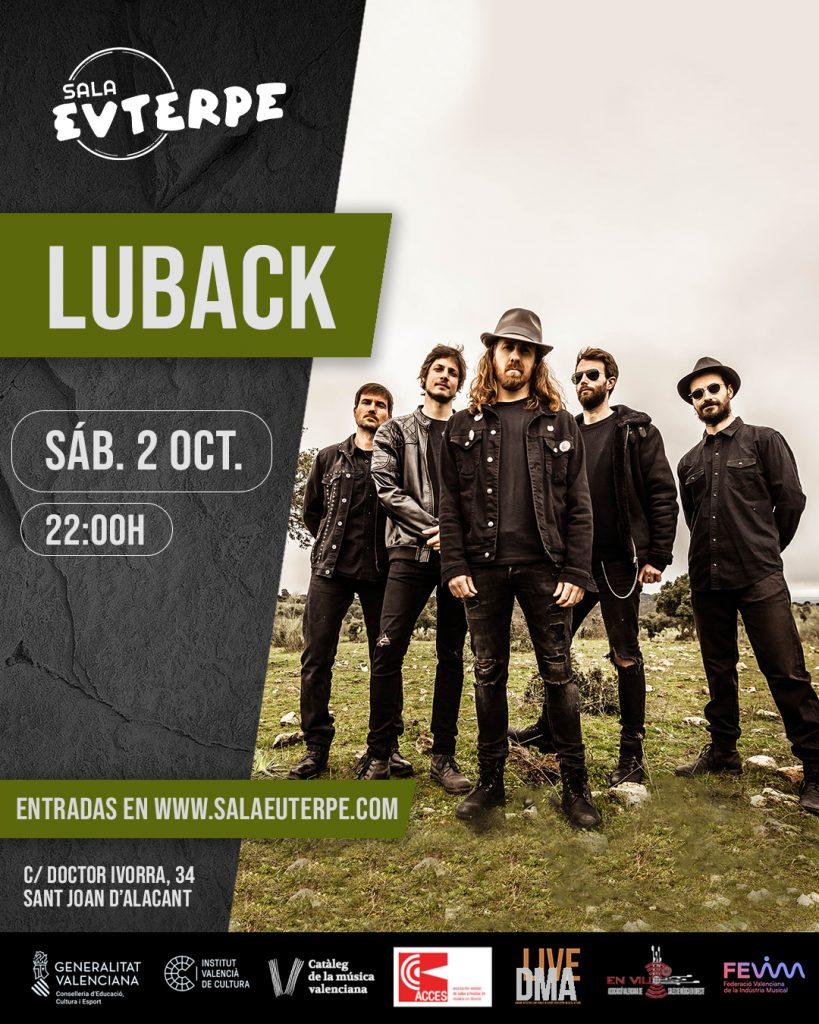 Luback desempolva el escenario de Sala Euterpe a golpe de rock en MÚSICA